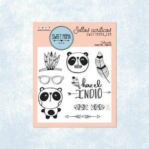 sellos acrilicos haz el indio