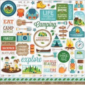 element stickers summer adventure