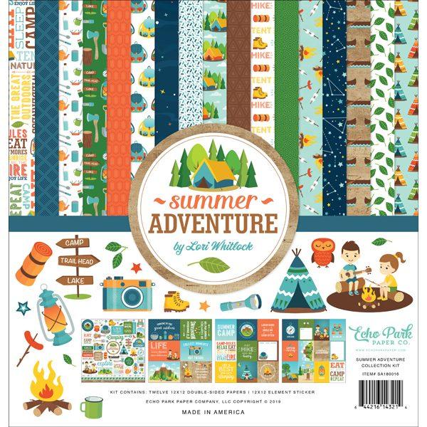 kit de papeles summer adventure