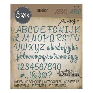 alpha numberic script sizzix