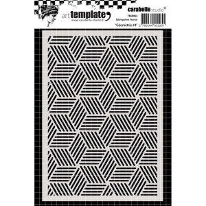 stencil geometrie 4 mix media