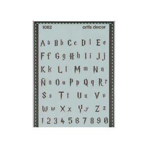 plantilla stencial abecedario
