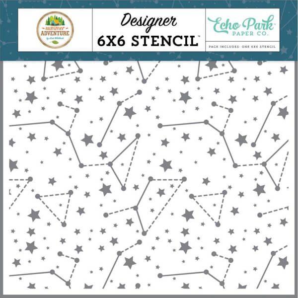 sky constellations stencil echo park