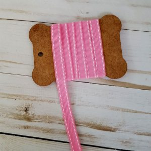 cinta pespunte rosa