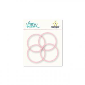 anillas rosa 45 mm