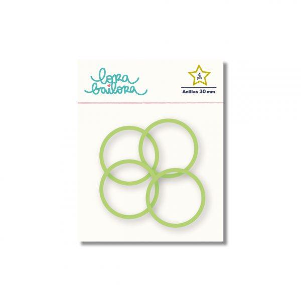 pack 4 anillas verde