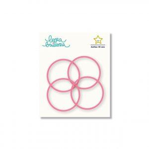 anillas rosa fucsia 45 mm