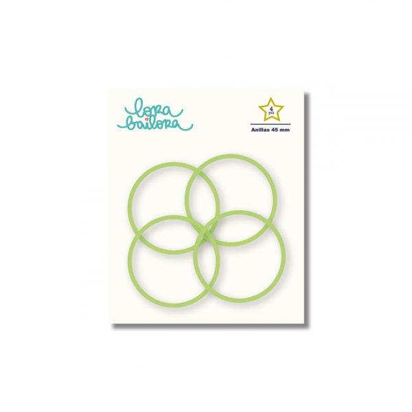 anillas verde 45 mm