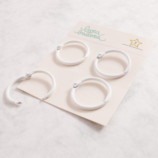 pack 4 anillas blanco