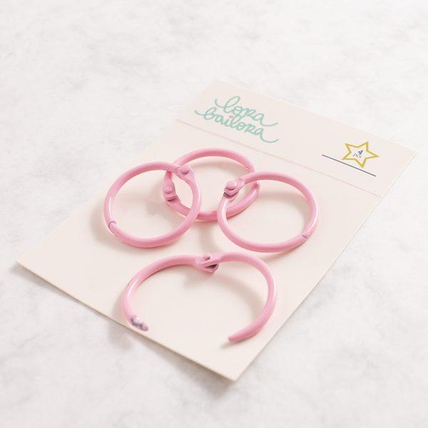 pack 4 anillas rosa