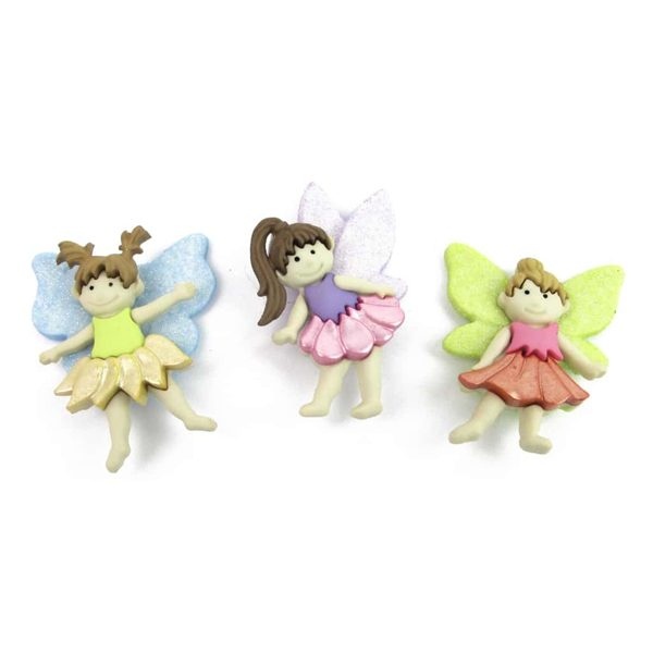 botones flower fairies