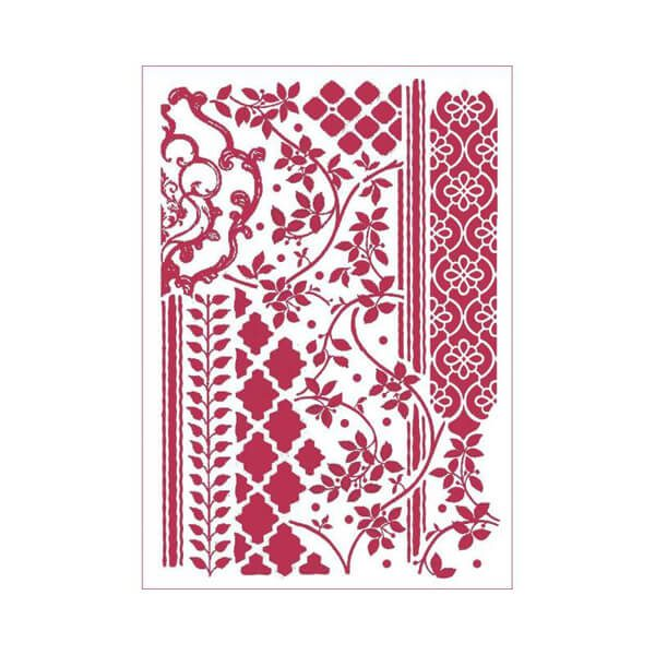 stencil modelo mixed tapestries