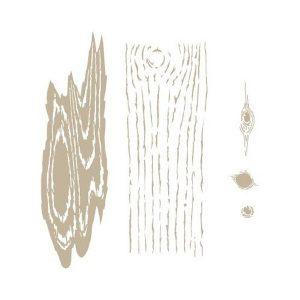 plantilla stencil textura madera
