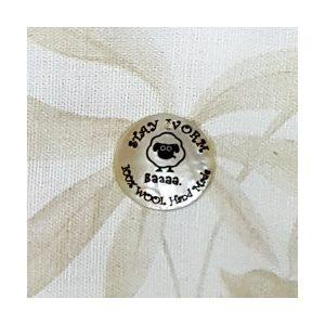Botón nácar lana