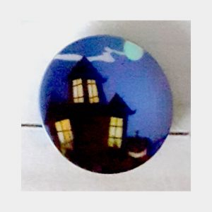 Botón Halloween castillo 2