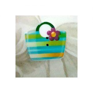 Botón cesta azul