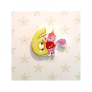 Botón infantil número 6