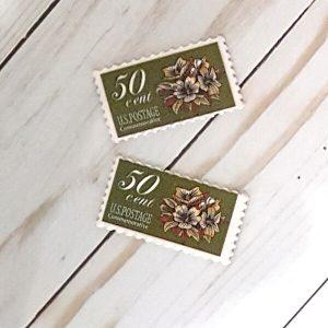 Botón sello postal