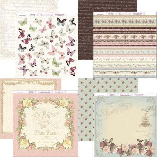 kit papeles flores