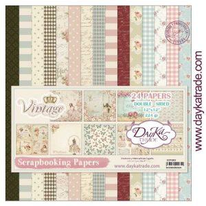 kit papeles vintage dayka