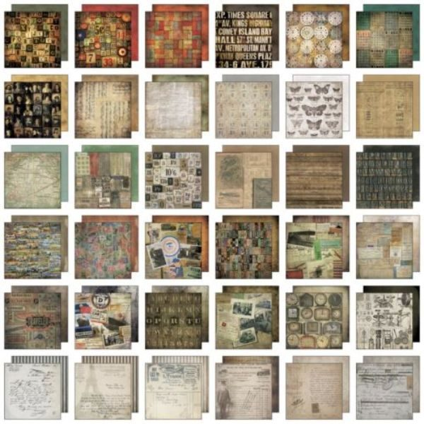 pad papeles collage tim holtz