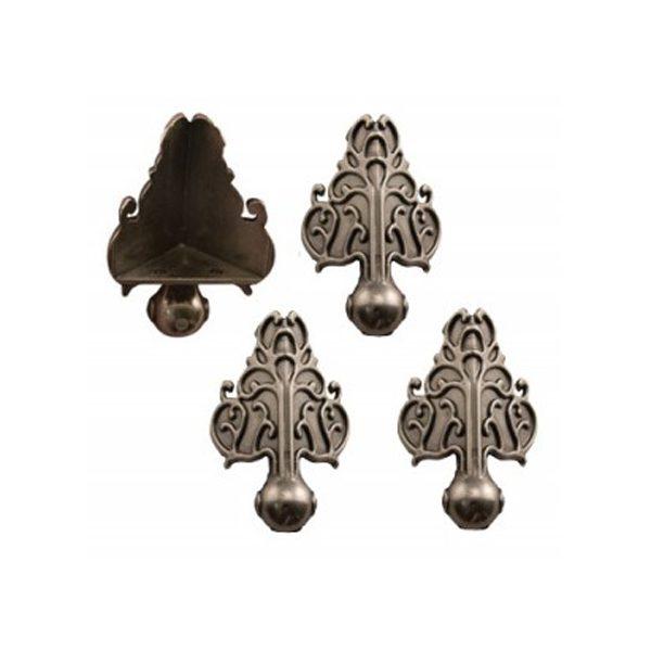 pies metalicos decoracion