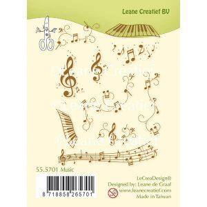 sellos acrilicos music leane creatif