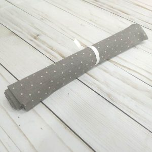 fat quarter topos gris