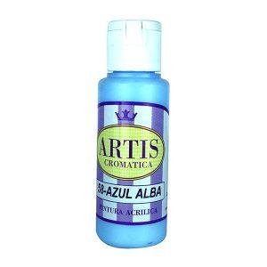 pintura acrilica mate azul alba