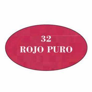 Pintura acrilica mate 32 Rojo Puro