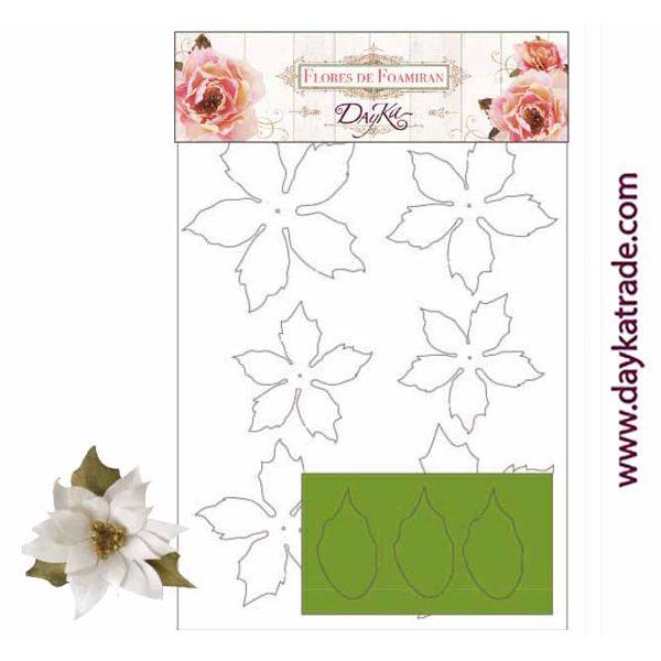 Flores de Foamiran Poinsettia
