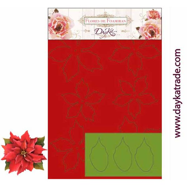 Poinsettia roja foam 27