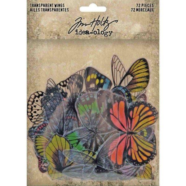 adornos transparentes mariposas tim holtz