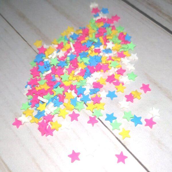 confetti estrellas multicolor