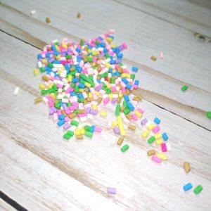 confetti virutas multicolor