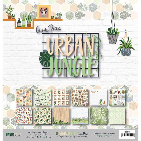 kit papeles urban jungle quim diaz