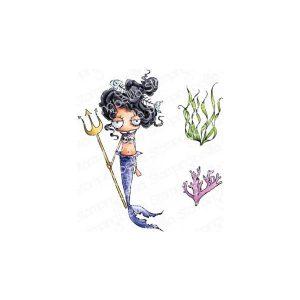 mermaid set sellos stamping bella