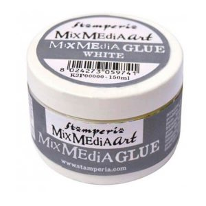 mix media glue stamperia
