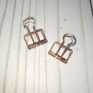 pack pinzas decorativas cobre