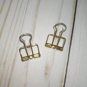 pack pinzas decorativas dorado