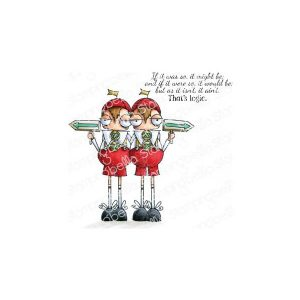 sellos tweedledee and tweedledum stamping bella