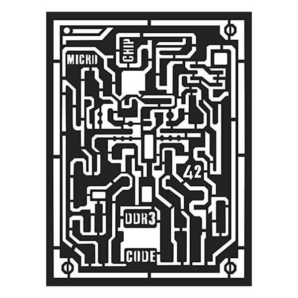 stencil microchip