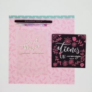Lettering con embossing