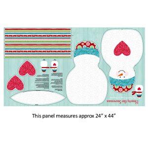 Panel snowman