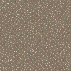 Tela-puntos-nieve-marrón