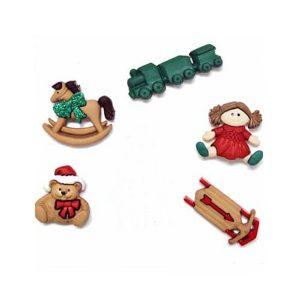 botones christmas toys
