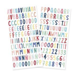 chipboard abecedario cuento de navidad