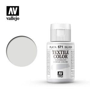 pintura para lona vallejo plata 571