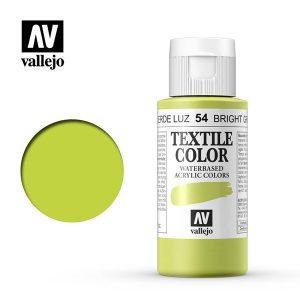 pintura uso en tela vallejo verde luz 54