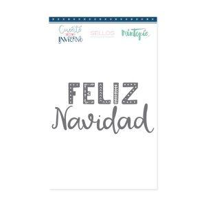 sello letrero feliz navidad
